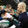 Flags, jerseys, balls, autograph books, posters and match programmes were all signed by Peter Stringer and the Ireland squad
