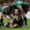 Phil Dowson's early score gave pre-match underdogs Northampton a huge boost in the club's first European final appearance since 2000