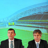 IRFU Chief Executive Philip Browne and FAI CEO John Delaney addressed the assembled audience