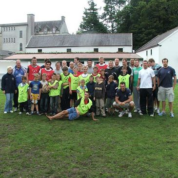 Connacht players with kids from the Sunflower Chernobyl camp
