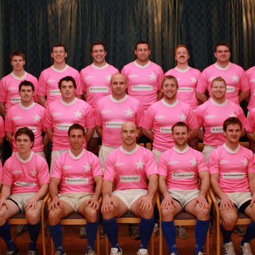 The St. Mary's players in their pink jerseys