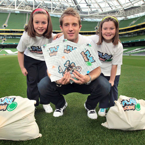 Luke Fitzgerald Launches IRFU's 'PLAY RUGBY' Initiative, Aviva Stadium, Tuesday, September 21, 2010