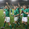 Brian O'Driscoll and the players also received medals after the match, which were given to every squad member of the competing teams following the completion of the World Cup pool stages