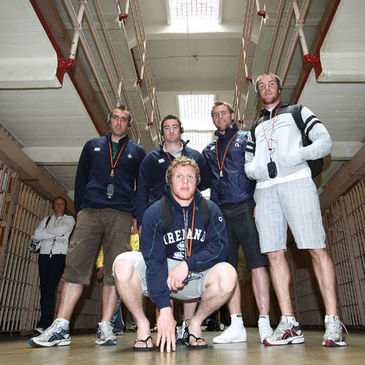 The Ireland players took a trip to Alcatraz Prison on Thursday