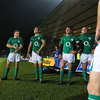 Marcus Horan, Ed O'Donoghue, Gavin Duffy and John Hayes gather near the touchline after the game