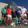 Pat Maher, the Sponsorship and Events Manager with Heineken, is pictured with John Muldoon (Connacht), Paul O'Connell (Munster), Leo Cullen (Leinster) and Johann Muller (Ulster)