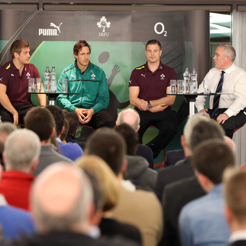 Photos of the IRFU Patrons Club's Q&A night with the Ireland players