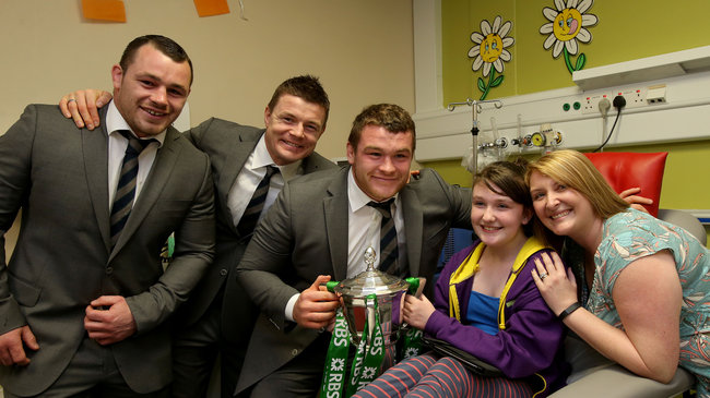 Ireland Players Visit Temple Street Children's University Hospital, Dublin, Wednesday, March 26, 2014