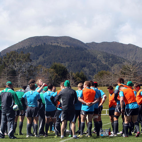 Photos of the Ireland players training in Taupo