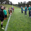 The kids took instruction and went through some fun drills and training games with coaches Mark Tainton and Greg Feek and four of Ireland's World Cup squad members