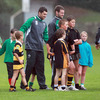 The rain shower did not dampen spirits as Leinster duo Rob Kearney and Fergus McFadden made sure the kids enjoyed themselves