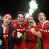Duncan Williams, Billy Holland, Niall Ronan and Tommy O'Donnell celebrate Munster's fourth win over the Wallabies. Cork was the venue for their 1967, 1981 and 1992 successes