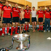 The Munstermen stand together and break into song as they continue their Magners League celebrations