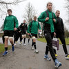 The Ireland players, including Ulster youngster Iain Henderson and Leinster's Luke Fitzgerald, are pictured arriving for the morning training session on Friday