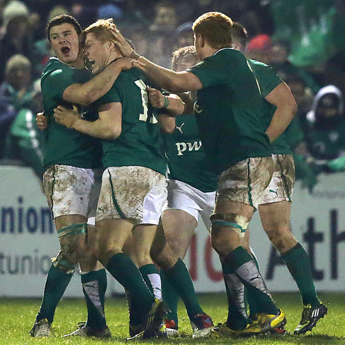 Photos of the Ireland Under-20s' late win over England in Athlone