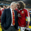 Head coach Warren Gatland and rock solid tighthead prop Adam Jones share a word before the conclusion of the game