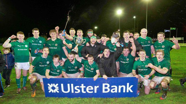 The Ireland Club XV players celebrate in Cork