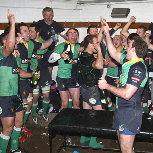 The scene in the Ballynahinch dressing room afterwards
