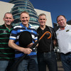 Joe Schmidt, who guided Leinster to their second Heineken Cup title last May, is pictured with fellow coaches Eric Elwood (Connacht), Brian McLaughlin (Ulster) and Tony McGahan (Munster)