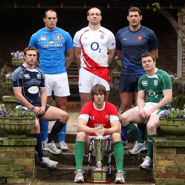 The team captains at the 2009 RBS 6 Nations launch