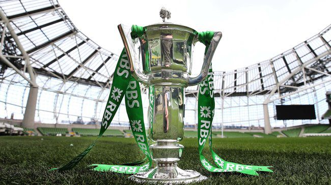 The RBS 6 Nations trophy at the Aviva Stadium