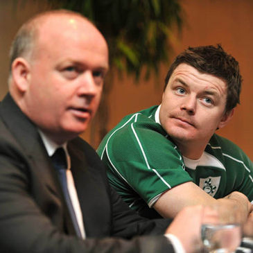 Declan Kidney and Brian O'Driscoll