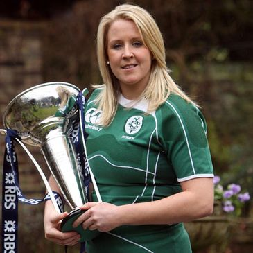 Ireland captain is pictured with the Six Nations trophy