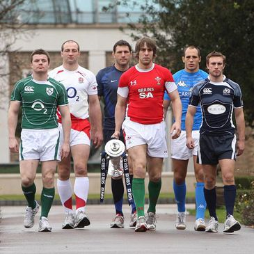 The team captains at the RBS 6 Nations launch