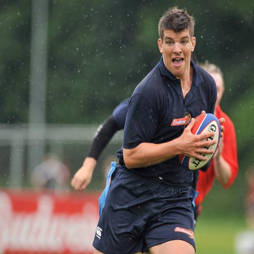 Munster and Ireland lock Donncha O'Callaghan tries his hand at Tag rugby