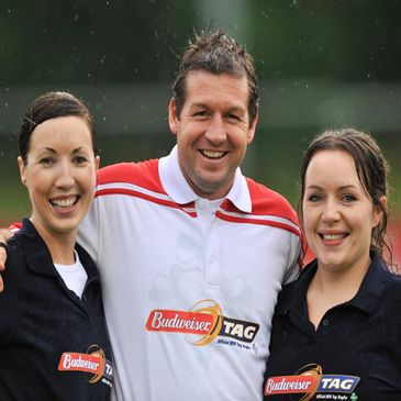 Alain Rolland was the man in the middle for the 'Challenge Donncha' match