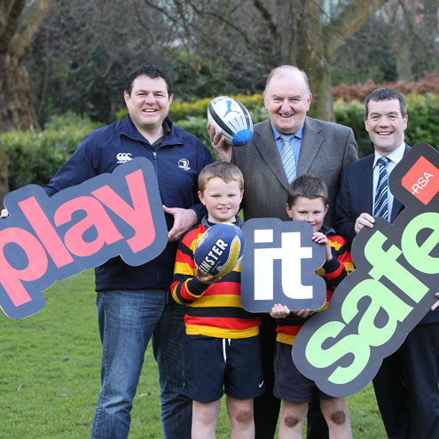 Reggie Corrigan and George Hook helped to launch 'Play it Safe'