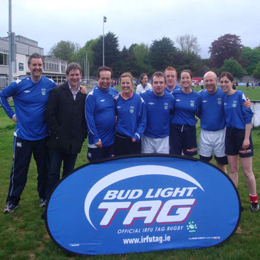 The RTE Sport team helped kick off the Bud Light Tag season at Old Belvedere