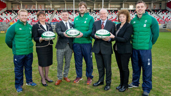 Foster And McGuinness Welcome RWC 2023 Bid Oversight Board To Belfast