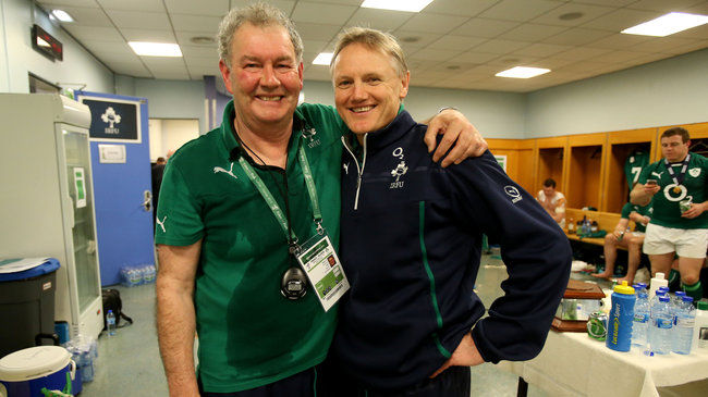 'Rala' with Ireland head coach Joe Schmidt