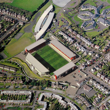 An overhead view of how the redeveloped Ravenhill will look