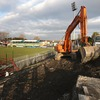 The sun shines down on Ravenhill as work on the new stand begins at the home of Ulster Rugby
