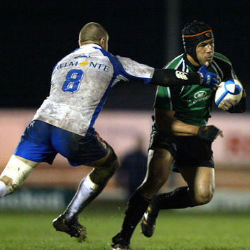 Connacht's Ray Ofisa in action against Montpellier