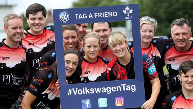 Carlingford Knights pictured at last year's Volkswagen Tag All-Ireland Championships which were held at Old Belvedere RFC