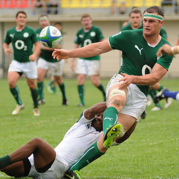 Rhys Ruddock in action for the Emerging Ireland side