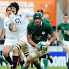 Irish skipper Rhys Ruddock manages to get behind the English defensive line in the closing stages