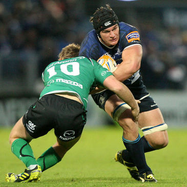 Rhys Ruddock and Niall O'Connor in action at the RDS