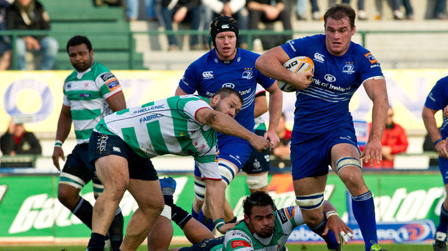 Rhys Ruddock in action against Benetton Treviso