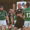 Dragons prop Rhys Thomas celebrates close to Connacht's Keith Matthews after scoring his side's third and final try