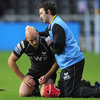 Ospreys full-back Richard Fussell, who went on to score a 21st minute try, had to be treated for a head wound during the first half
