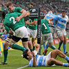 The Leinster hooker was congratulated by Donnacha Ryan having dotted down under pressure from Argentina's Martin Landajo