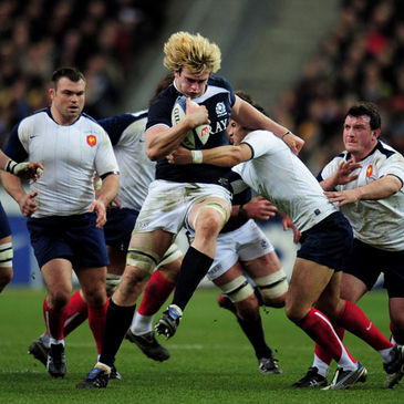 Richie Gray in action for Scotland