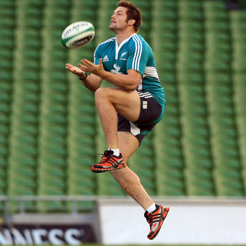 Photos of the New Zealand players training on the Aviva Stadium pitch