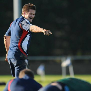 Richie McCaw training with New Zealand