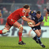 Munster lock Mick O'Driscoll lunges for the ball as he tries to rip it free from Cardiff's Richie Rees