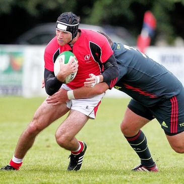 Ricky Andrew in action for Ulster Ravens